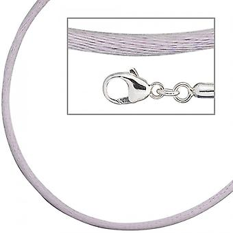 Silk necklace 925 /-s lilac lilac silk cord necklace for pendant