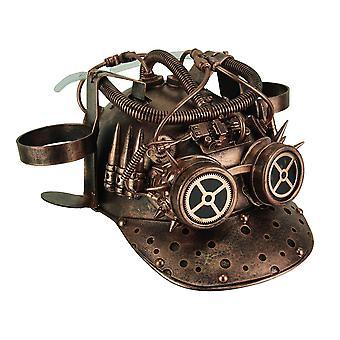 Metallisches Kupfer Vintage Helm Steampunk Cup Holder Baseballkappe