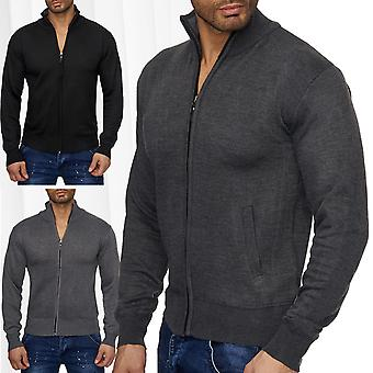 Men's Cardigan knitted jacket jacket sweater stand collar zip zipper