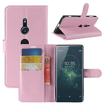 Pocket plånbok premium rosa för Sony Xperia XZ2 skydd ärm fall täcka påse nya
