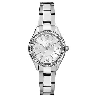 Timex Womans Miami Mini SIlver Stainless Steel Strap Silver Dial TW2P79800 Watch