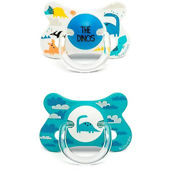Suavinex Pacifier Fusion Anatomico Dino Blue 2 Units 18 Months
