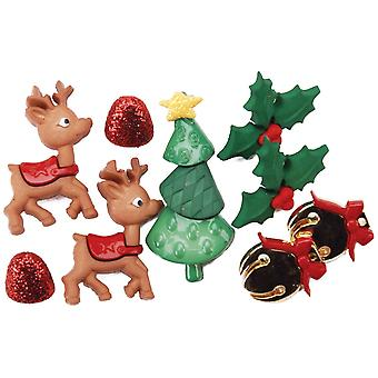 Dress It Up Holiday Embellishments-Reindeer Games