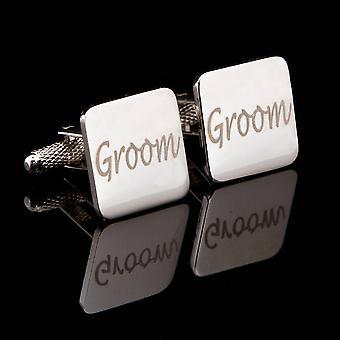Laser de marié boutons de manchette de mariage