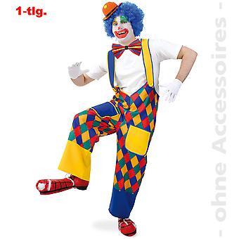 Clown Bunt Karohose Clownhose Spaßmacher Hose Unisex Kostüm