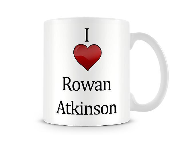 Amo la Rowan Atkinson tazza stampata