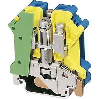 PE/N feed-through terminal block UK 6 N-PE/N Phoenix Contact Green-yello