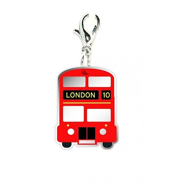 Union Jack Wear Big Red Bus Clip On Charm