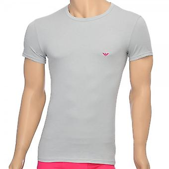 Emporio Armani Fashion Stretch Cotton Crew Neck T-Shirt, Ice, X-Large