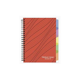 Notebook A4 70 g 150 sheet with 5 dividers