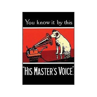Hmv Nipper ''You Know It'' Steel Fridge Magnet
