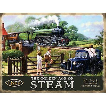 Golden Age Of Steam (Lner/Austin 7) Metal Sign 200Mm X 150Mm