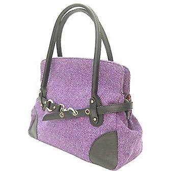 Harris Tweed Handbag R (Purple)