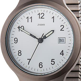 JOBO men's wristwatch quartz analog titanium mineral glass cable