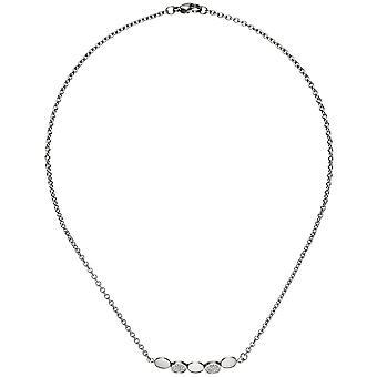 Ожерелье ожерелье из нержавеющей стали с 14 цепи цирконий 42 см