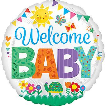 Anagram 18in Circular Welcome Baby Foil Balloon