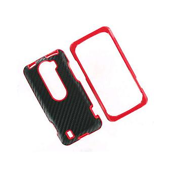 OEM-HTC MyTouch Slide 4G Hartschale Case - Black/Fire Red