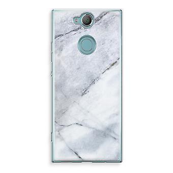 Sony Xperia XA2 Transparent Case (Soft) - Marble white