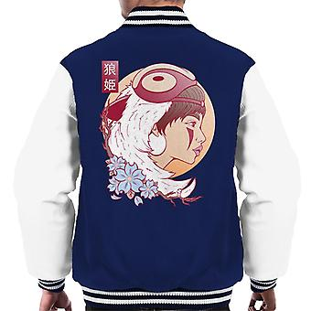 Studio Ghibli Wolf Princess Mononoke menn Varsity jakke