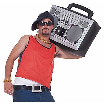 Hip Hop Rapper jaren 1980 opblaasbare Radio Boom Box Mens kostuum accessoire