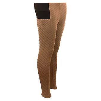Capretto pelle Stretch vita alta confortevole caldo inverno Leggings Pantaloni donna