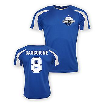 Paul Gascoigne Rangers Sporttraining Jersey (blau)