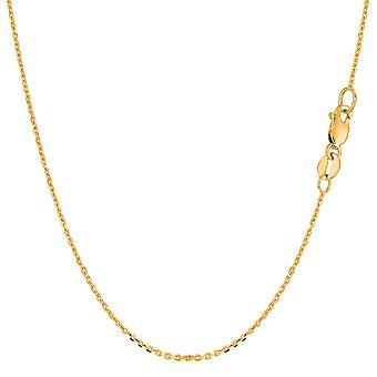 10 k giallo oro cavo Link Chain Necklace, 1,1 mm