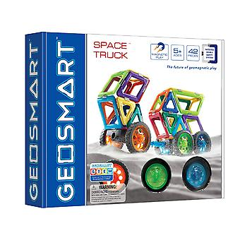 GeoSmart Space Truck Geowheels Magnetic Play 42 PCs