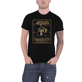 Anthrax T Shirt Among The Living New Band Logo new Official Mens Black
