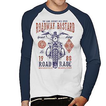 Vägbanan Bastard motorcykel mäns Baseball långärmad T-Shirt