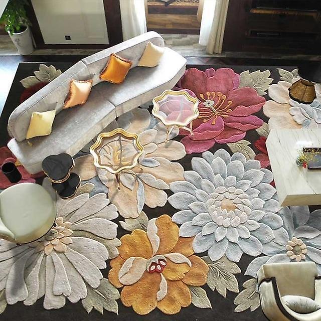 Tapis de grande Taille de laine pour salon salon chambre classique broderie art tapis décoration tapis floral moquette
