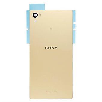 Äkta Sony Xperia Z5 bakre batteriluckan - guld