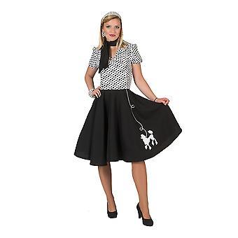 Пудель платье взрослого (40/42) (Whte/Blk)