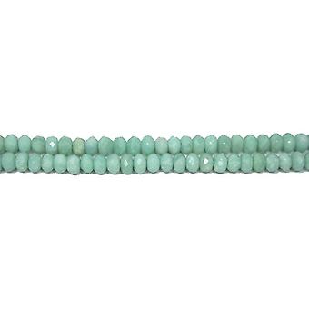 Strand 70+ Turquoise Amazonite 5 x 8mm Faceted Rondelle Beads GS8006-1
