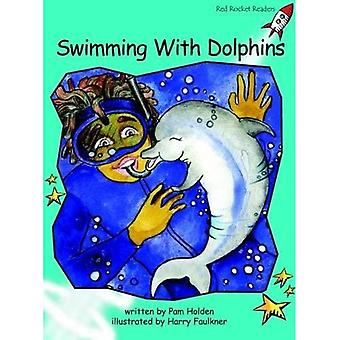 Swimming with Dolphins: Level 2: Fluency (Red Rocket Readers: Fiction Set B)