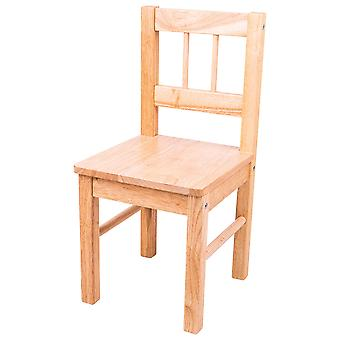 Bigjigs Toys Children's Natural Wooden Chair - Bedroom Playroom Furniture