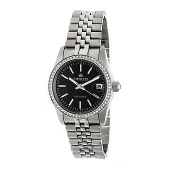 Kaiserin Constance Automatik Armband sehen w/Datum-Silber/Schwarz