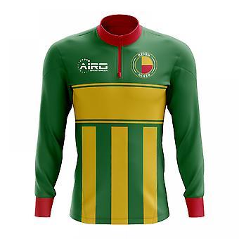 Benin Concept voetbal Half Zip Midlayer Top (groen-geel)