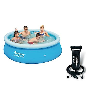 Bestway 8ft Fast Set Paddling Pool With Bestway 12