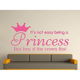 Wird eine Prinzessin Kunst Wandaufkleber - Pink