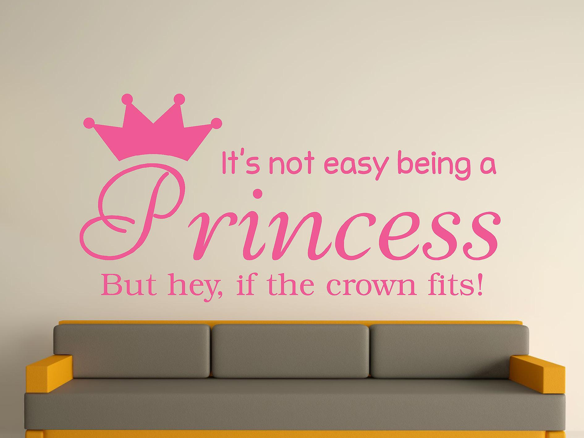 Being A Princess Wall Art Sticker - Pink