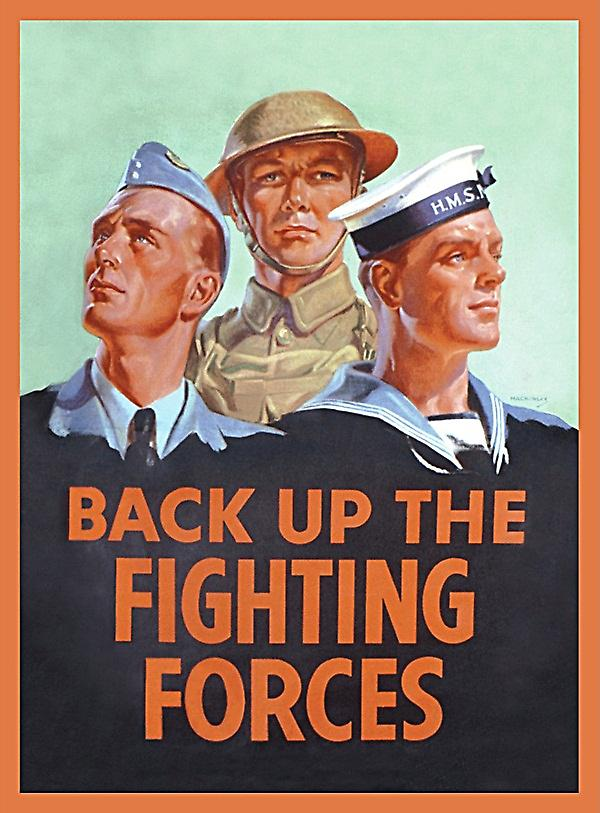 Back Up The Fighting Forces steel fridge magnet  (hb)
