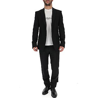 Givenchy Black Cotton Suit