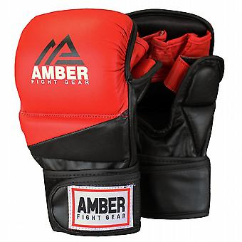 Amber Fight Gear Pro Style MMA Muay Thai Grappling Gloves Sparring Training Gloves
