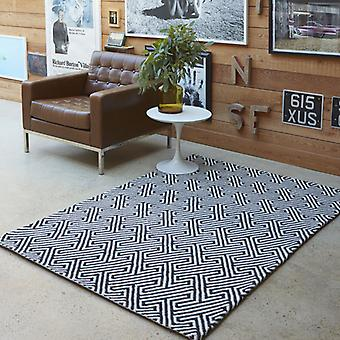 Rugs -Maisey In White & Black