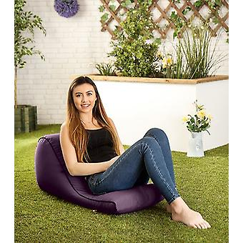 Purple ' Kai ' Water Resistant Outdoor Bean Bag Wedge Lounger Rucksack