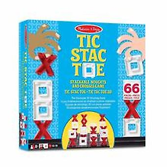 Melissa & Doug Stackable Noughts & Crosses Game (tic Stac Toe)