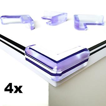 4x Corner Protection - Trasparent Corners for Tables Bumpers - Soft Silicone for Extra Safety !