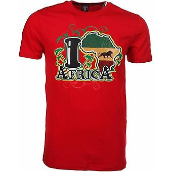 T-Shirt I Love Africa-Red