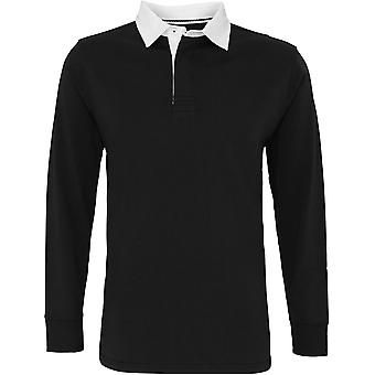 Asquith & Fox - Men's Classic Fit Long Sleeve Vintage Rugby Shirt